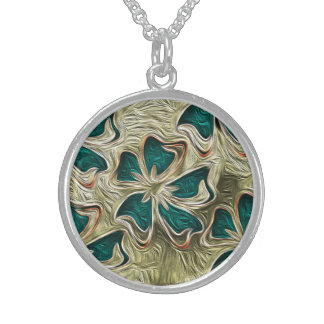 Soulful Sky Sterling Silver Round Pendant Necklace