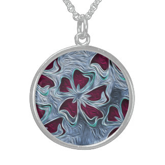 Soulful Sweet Sterling Silver Round Pendant Necklace