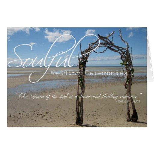 Soulful Wedding Ceremonies Note  Card