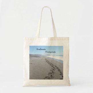 Soulmate Footprints Budget Tote Bag