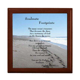 Soulmate Footprints Jewelry Box With Poem