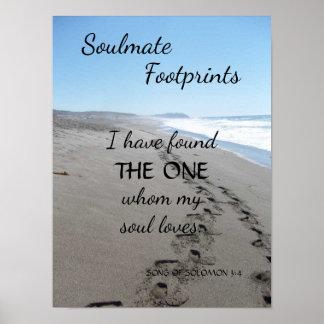 Soulmate Footprints Poster with Poem