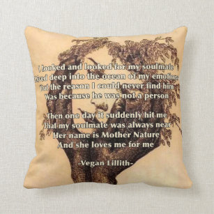 Soulmate Poem Throw Pillow