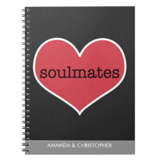 Soulmates Love Personalized Notebook