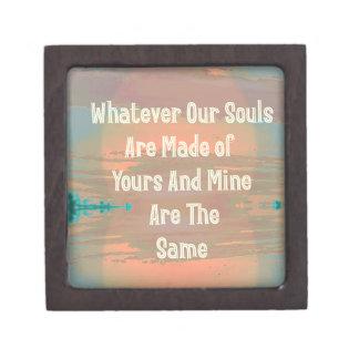 """Souls Are Made The Same"" Zen Design Keepsake Box"
