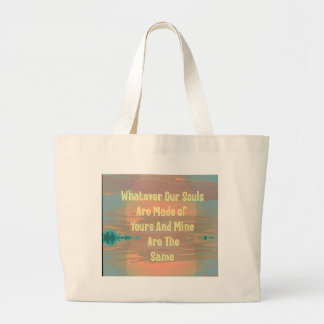 """""""Souls Are Made The Same"""" Zen Design Large Tote Bag"""
