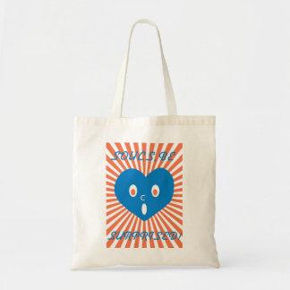 souls, be surprised blue heart ver. tote bag