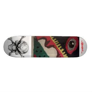 souls of eyes and skulls skate decks
