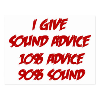 Sound Advice Postcard