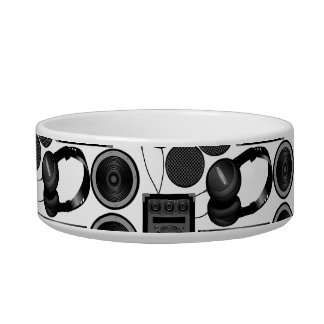 Sound and subwoofer speakers bowl