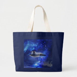 Sound barrier plane large tote bag