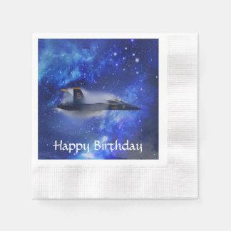 Sound barrier plane paper napkin