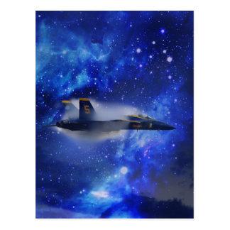 Sound barrier plane postcard