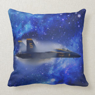 Sound barrier plane throw pillow