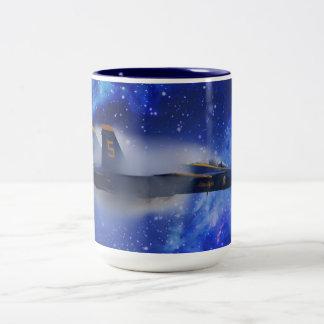 Sound barrier plane Two-Tone coffee mug
