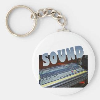 sound basic round button keychain