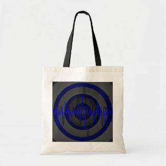 Sound Blue Dark budget tote bag
