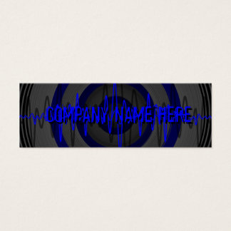 Sound Blue Dark business card template skinny