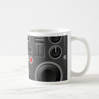 Sound board or studio controls basic white mug