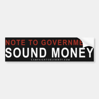 SOUND BUMPER STICKER