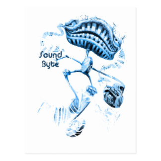 sound byte with text postcard