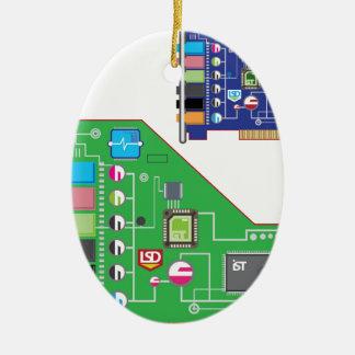 Sound Card vector Ceramic Ornament