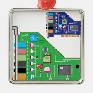 Sound Card vector Metal Ornament