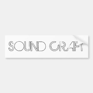 SOUND CRAFT WHITE STICKER