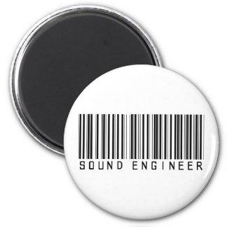 Sound Engineer Bar Code Magnet
