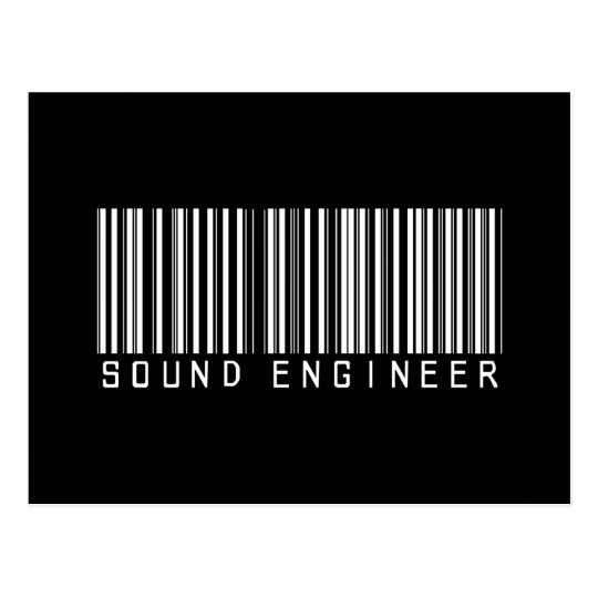 Sound Engineer Bar Code Postcard