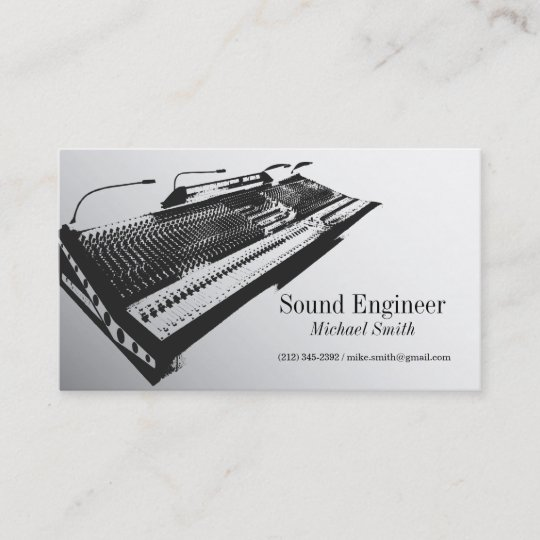 Sound engineer business card zazzle sound engineer business card colourmoves