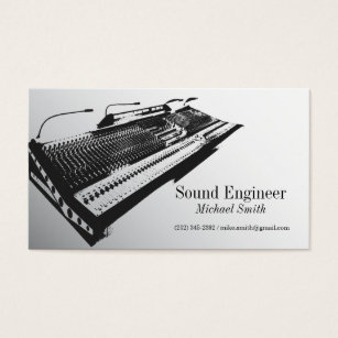 Engineering business cards templates zazzle sound engineer business card flashek Choice Image