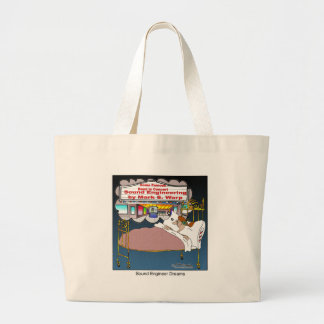 Sound Engineer Dreams Large Tote Bag