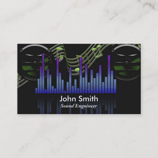 Sound engineer or freelance music producer studio business card sound engineer or freelance music producer studio business card colourmoves