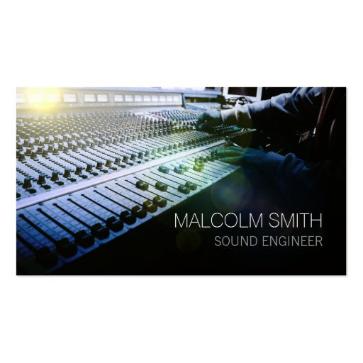 Sound Engineer Sound MiIxing Console Business Card Templates