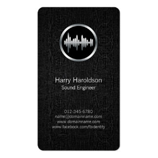 Sound Engineer Sound Wave BlackGrunge BusinessCard Double-Sided Standard Business Cards (Pack Of 100)