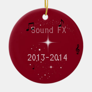 Sound FX  show choir Ceramic Ornament