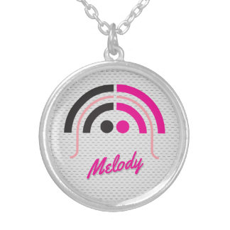 Sound Girl (1a) Silver Plated Necklace