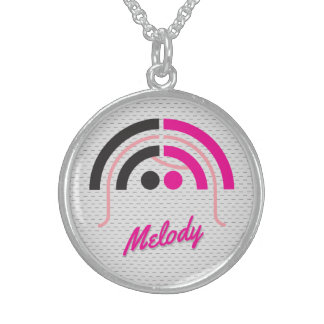 Sound Girl (1f) Sterling Silver Necklace
