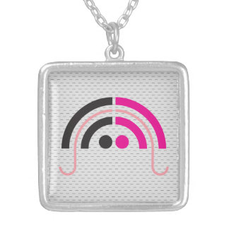 Sound Girl (2a) Silver Plated Necklace