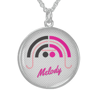 Sound Girl 2d Sterling Silver Necklace