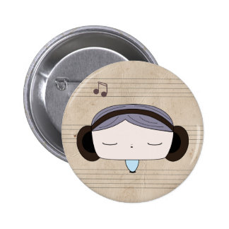 sound girl pinback buttons