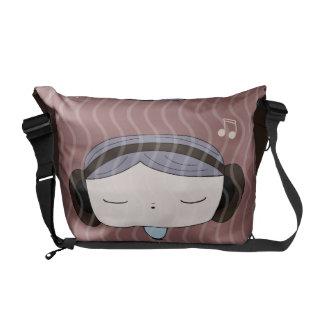 sound girl courier bag