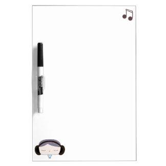 sound girl dry erase white board