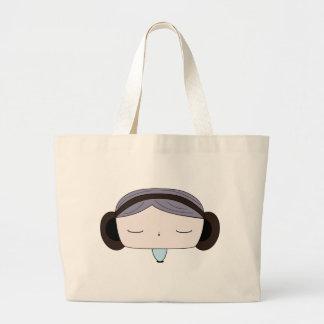sound girl large tote bag
