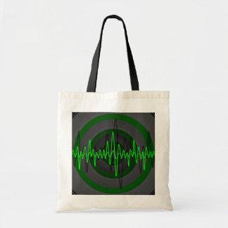 Sound Green Dark budget tote bag