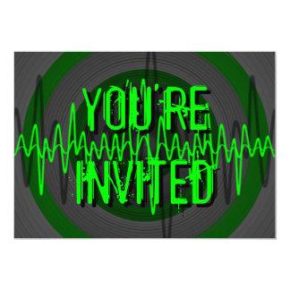 Sound Green Dark 'You're Invited' invitation