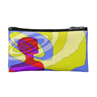 sound head red cosmetic bag