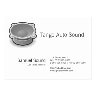 Sound Large Business Card