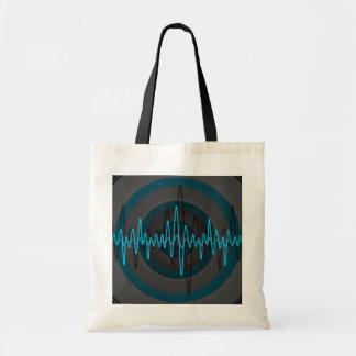 Sound Light Blue Dark budget tote bag